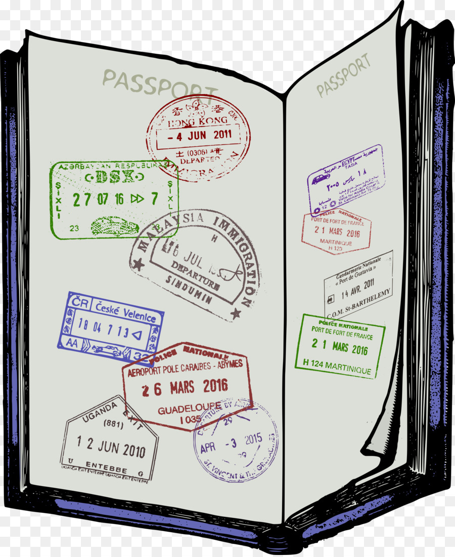 Travel Passport clipart.