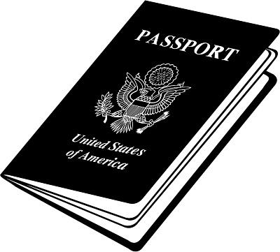 Us passport clipart.