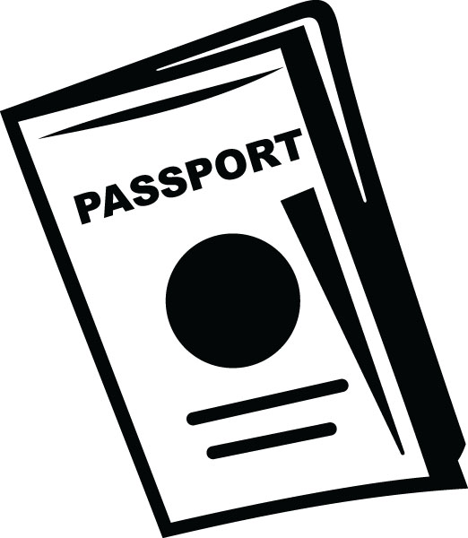 Passport Tourism Clip Art For Custom Engraved Products.