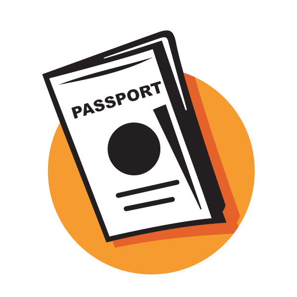 Passport clipart free.
