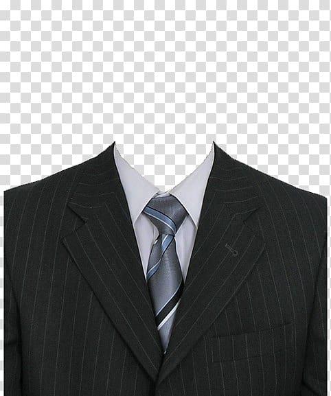 Suit Formal wear Clothing, Dress template, pinstripe notch.