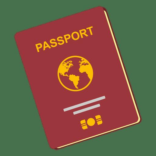 Passport travel icon.