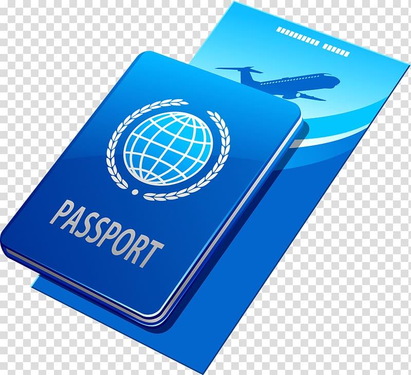 Blue Passport illustration, , Passport tickets transparent.