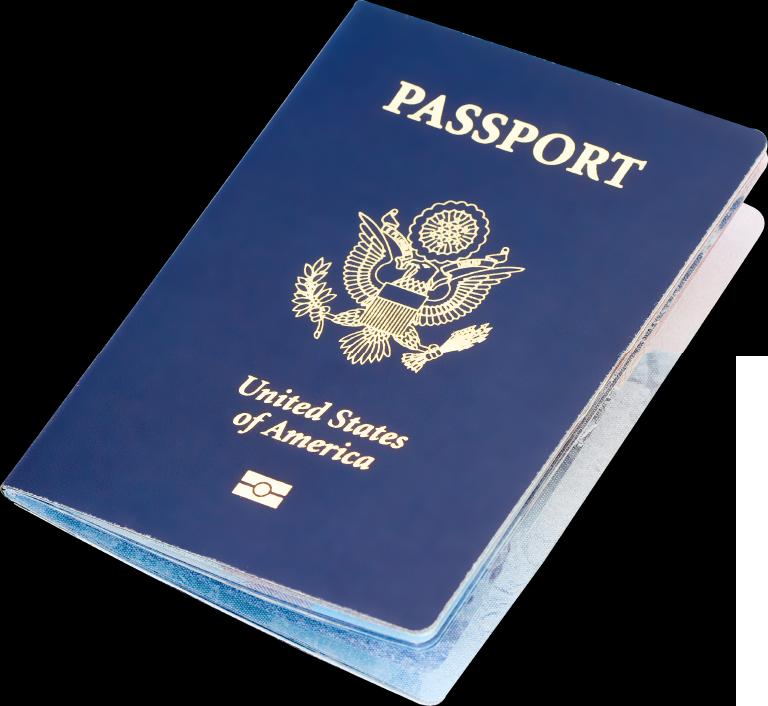 Passport illustration PNG.