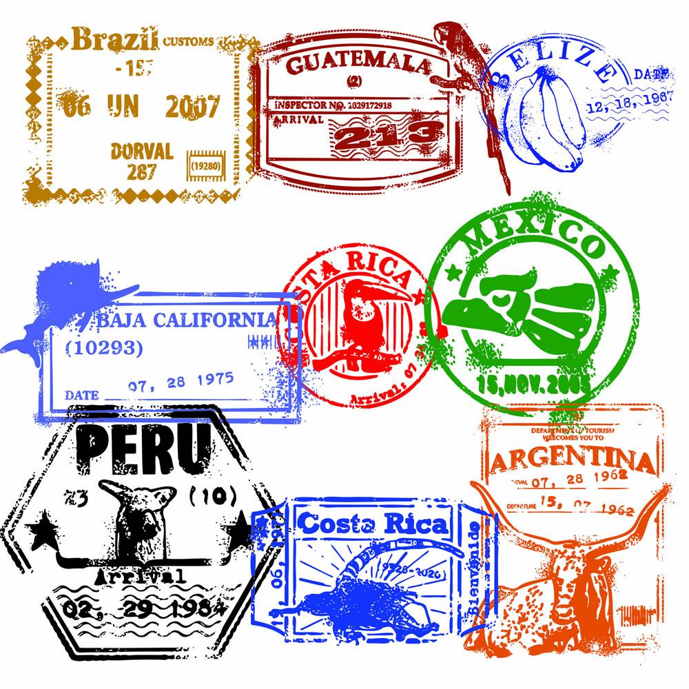Cute passport clipart collection 3.