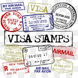 Passport stamps clipart png » Clipart Portal.