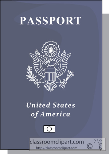 Us passport clipart.