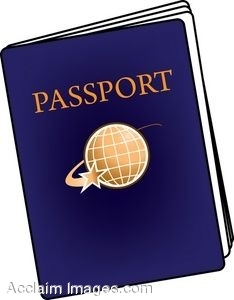 Clip Art of a Passport.