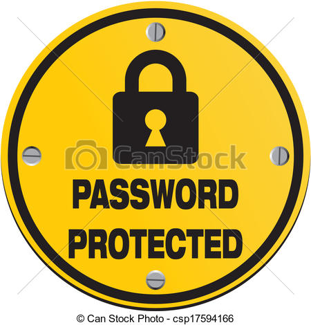 Clip Art Vector of password protected.