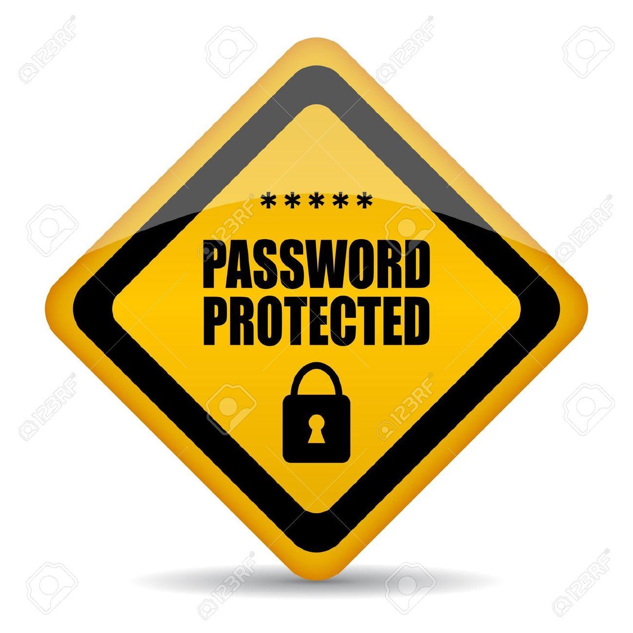 Computer Password Security Clip Art.