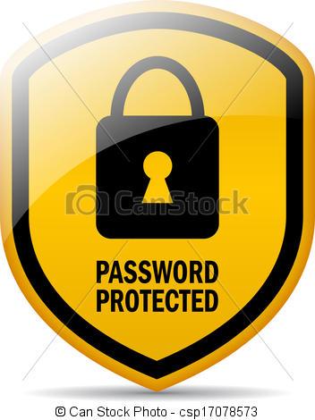 Password Security Clipart.