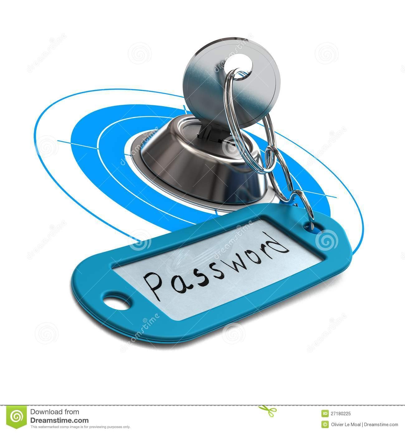Password Security Clip Art.