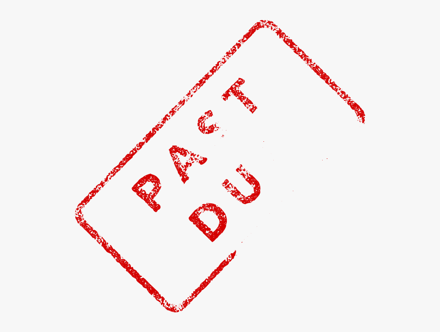 Faded Past Due Stamp Clip Art.