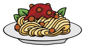 Spaghetti pasta clip art.