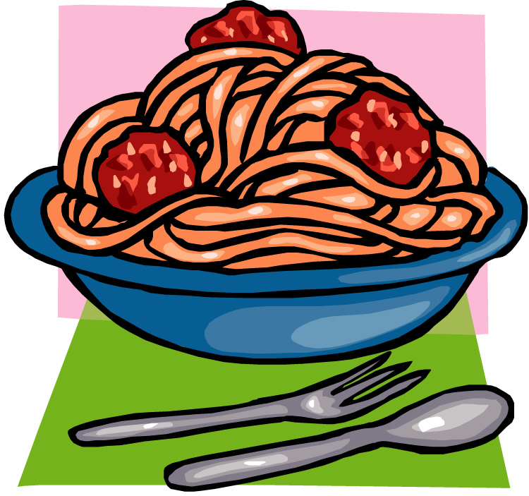 Spaghetti dinner clipart.