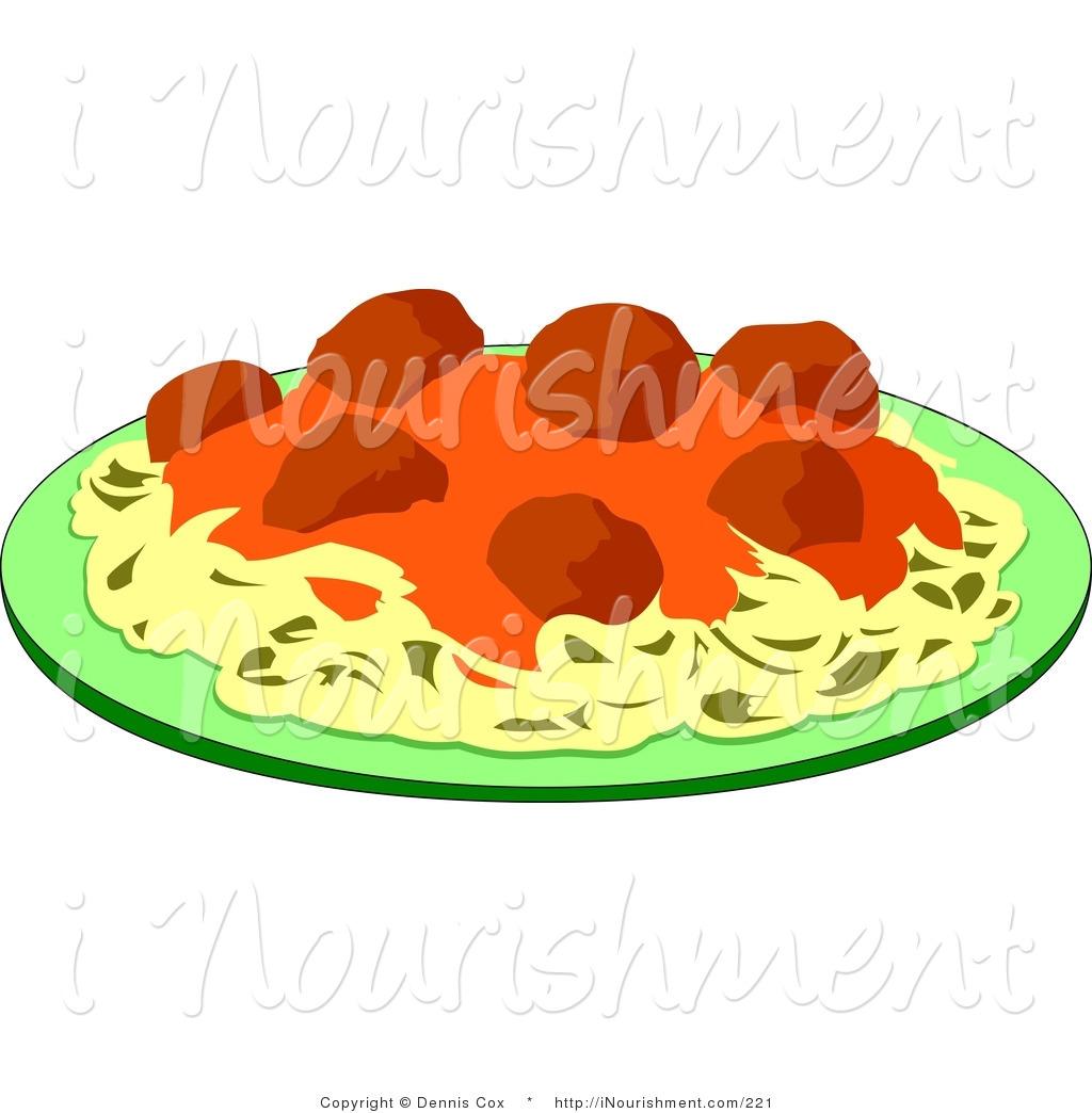 Italian Pasta Dinner Clipart.