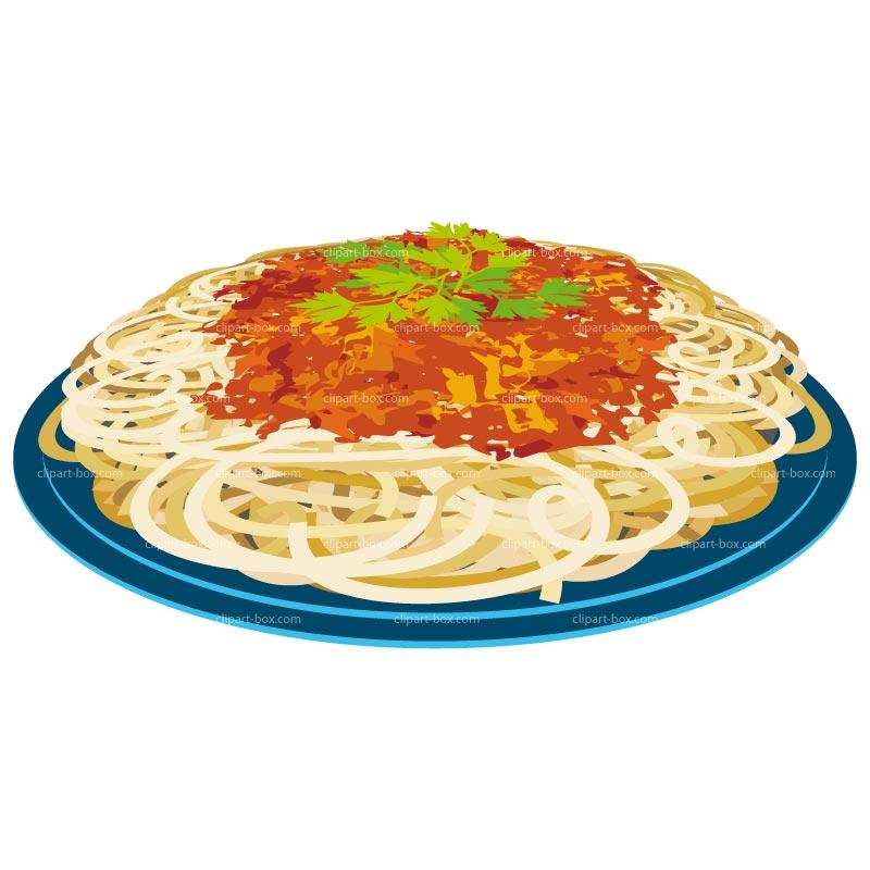 Spaghetti Plate Clipart.
