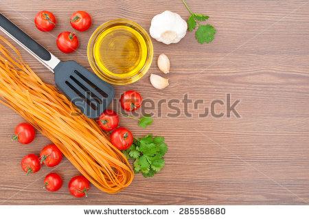 Spaghetti Oil Olive Preparation Tomatoes Stock Photos, Royalty.
