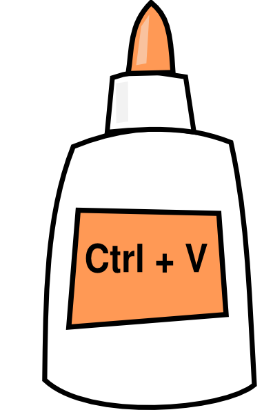 Ctrl + V = Paste Clip Art at Clker.com.