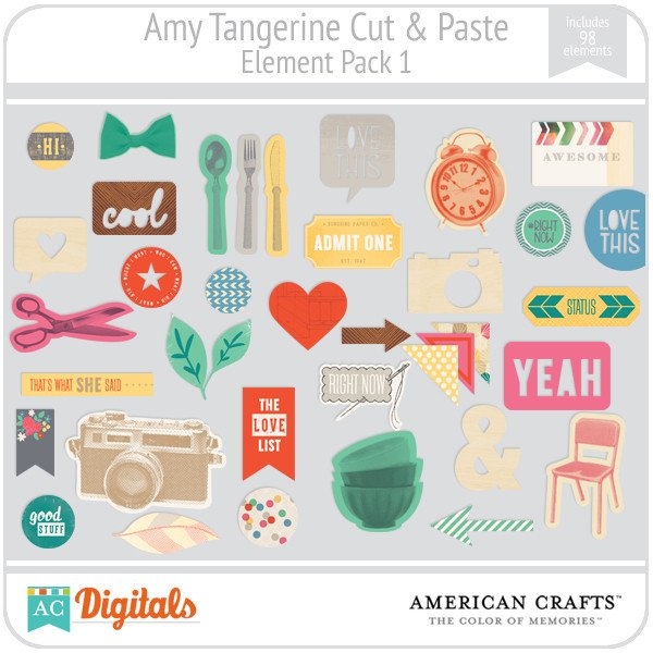 Amy Tangerine Cut & Paste Full Collection.