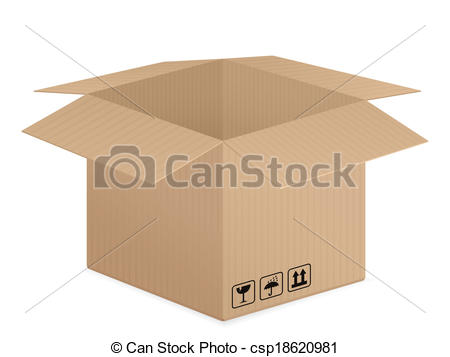 Vector of pasteboard box.