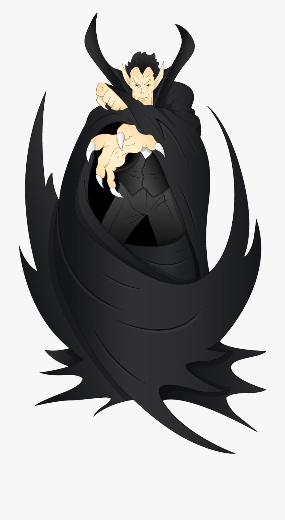 Halloween Black Vampire Png Clipart.