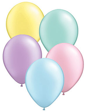 Pastel Balloons Clipart.
