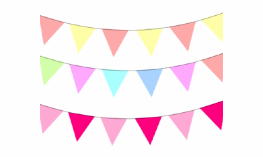 Bright Clipart Flag Banner Pastel Party Banner Clipart.