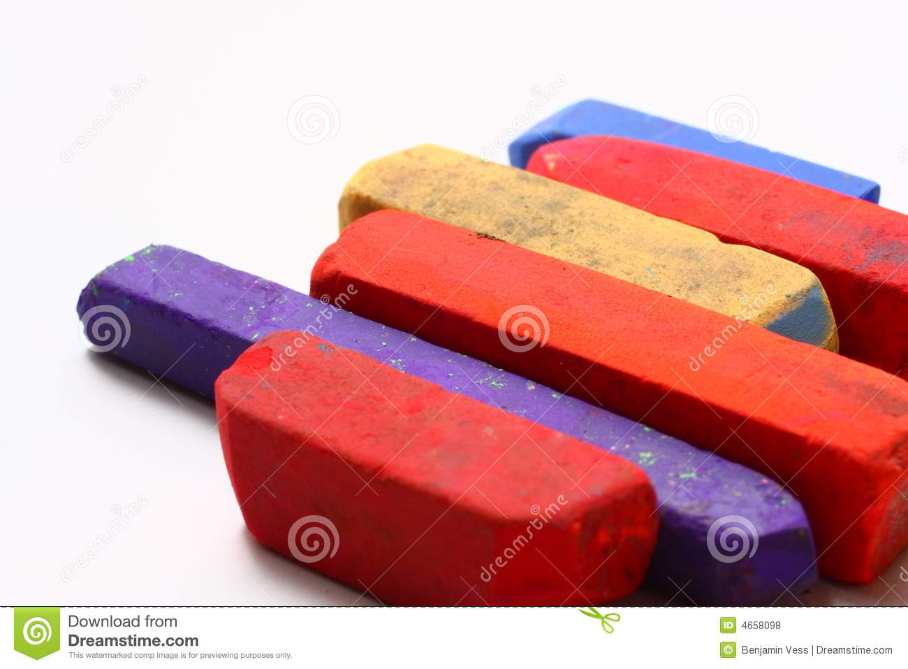 Colored Chalk Pastels Royalty Free Stock Photos.