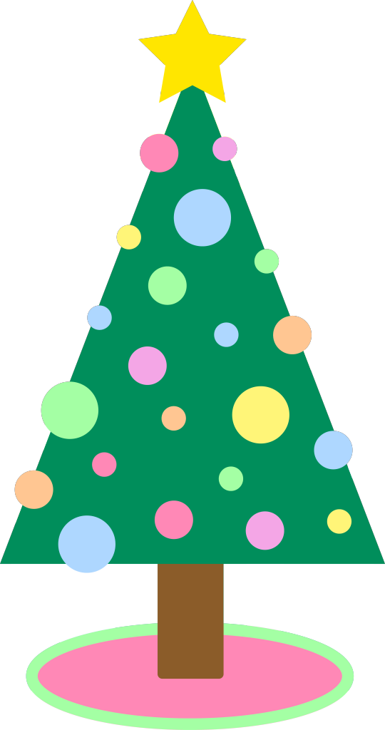 Pastel Christmas Tree Clipart.