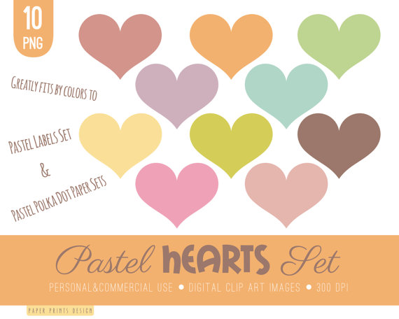 10 hearts clip art hearts clipart pastel clipart pastel.