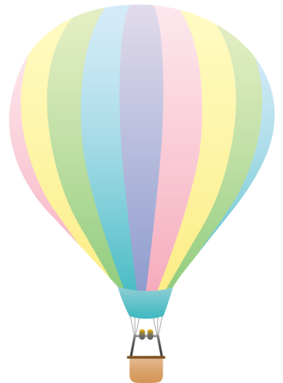 Pastel Balloons Clipart.