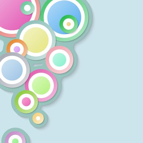 Circle abstract background with pastel color..