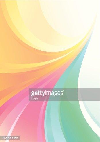 Pastel Color Flowing Lines Background Clipart Image.