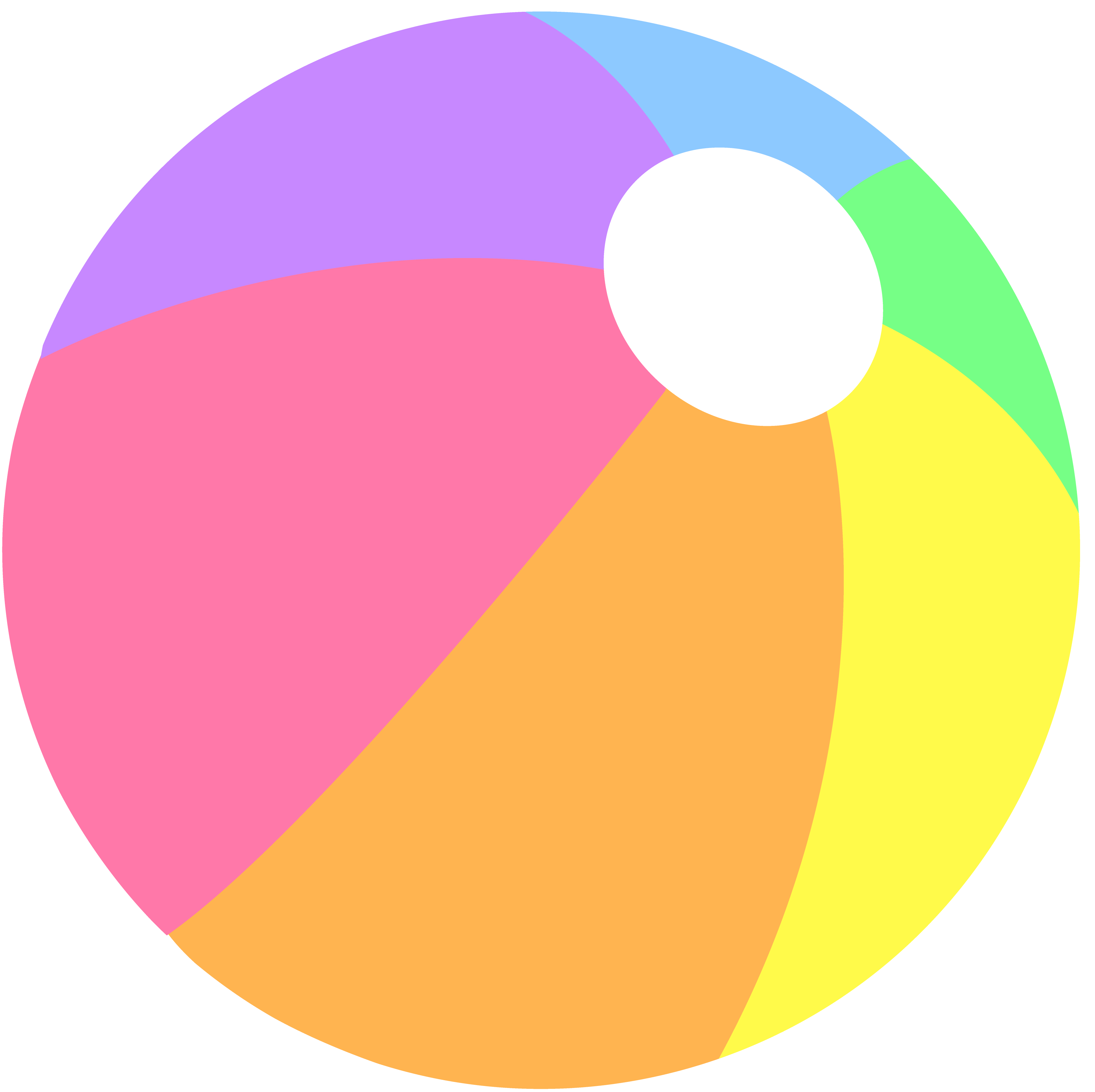 Beach Ball in Pastel Colors.