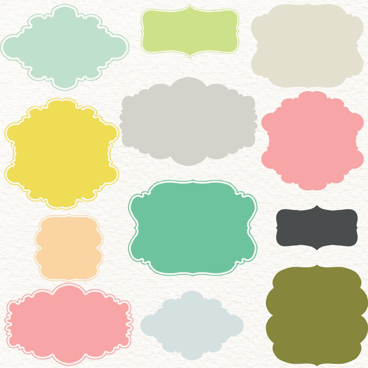 """Pastel Frames Clipart: Digital Frames """"PASTEL FRAMES"""" Pack With."""