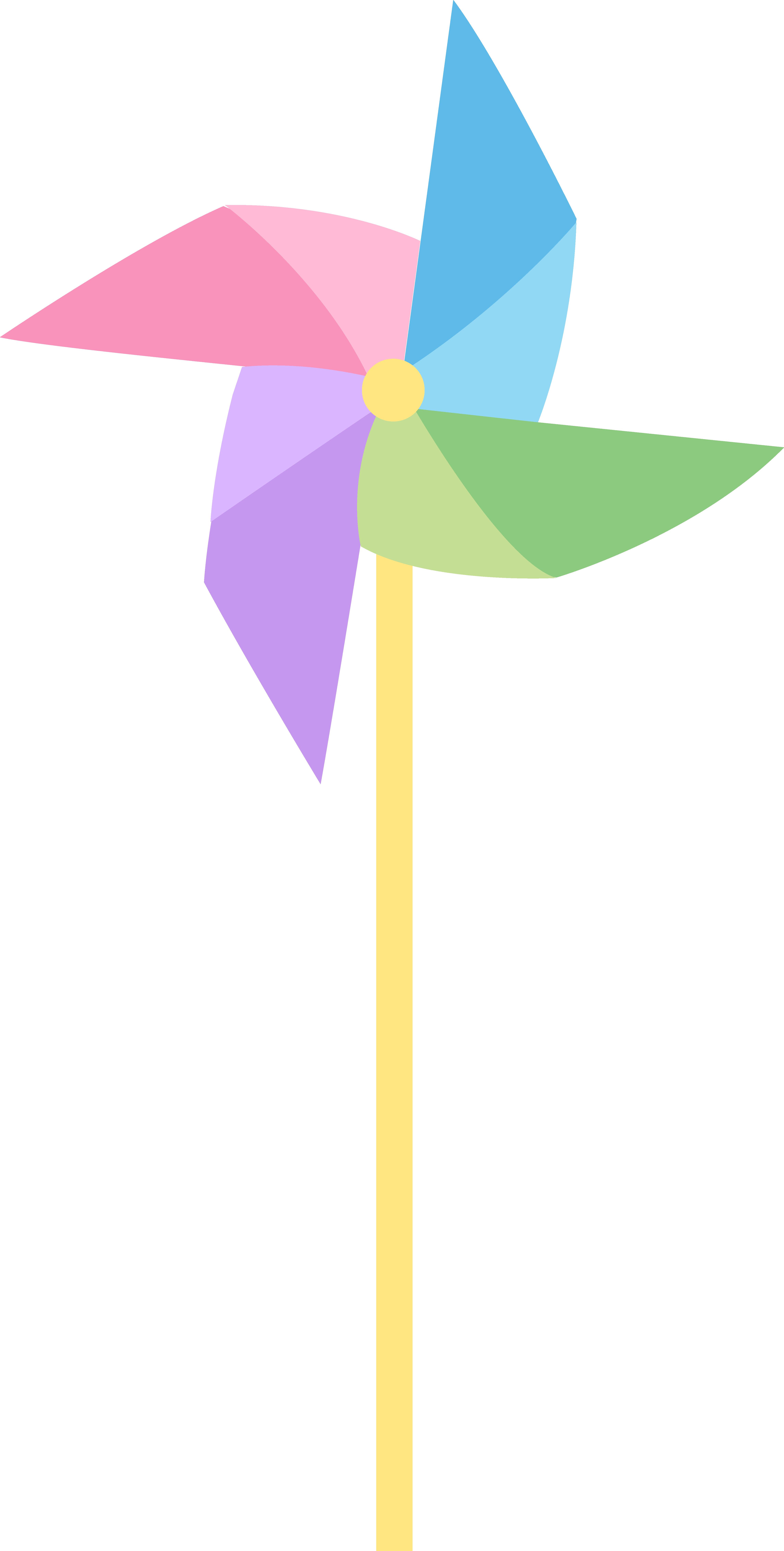 Pastel Colored Pinwheel.