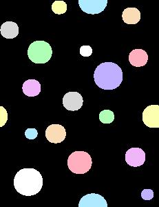 Polka Dots, In Pastel Colors Clip Art at Clker.com.