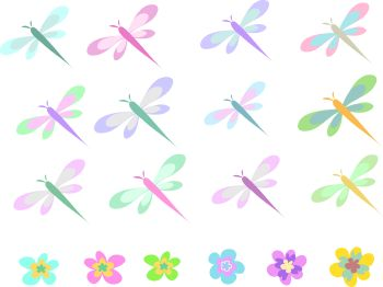 Butterfly Background of Pastel Colors.