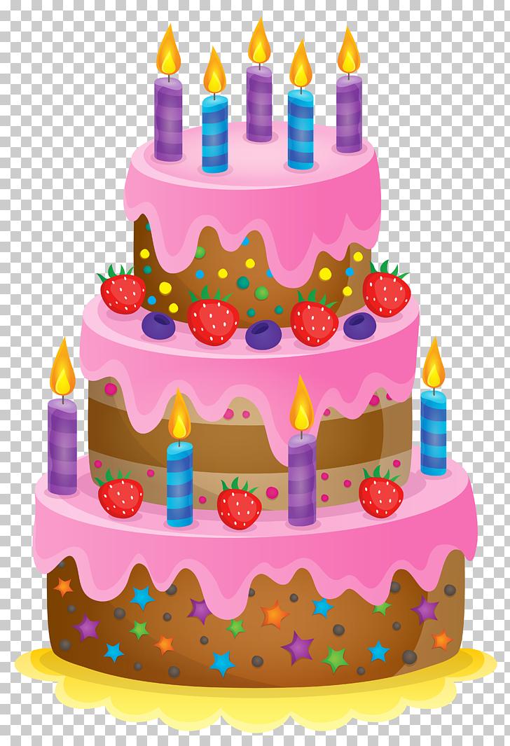 Ilustración de pastel de cumpleaños, pastel de cumpleaños.