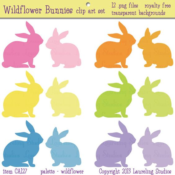Pastel Easter Bunny Clipart Free Download.
