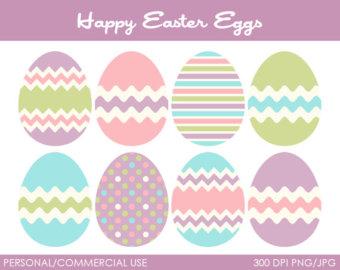 Pastel Easter Eggs Clipart.