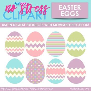 Pastel Easter Eggs Clip Art (Digital Use Ok!) by FlapJack.