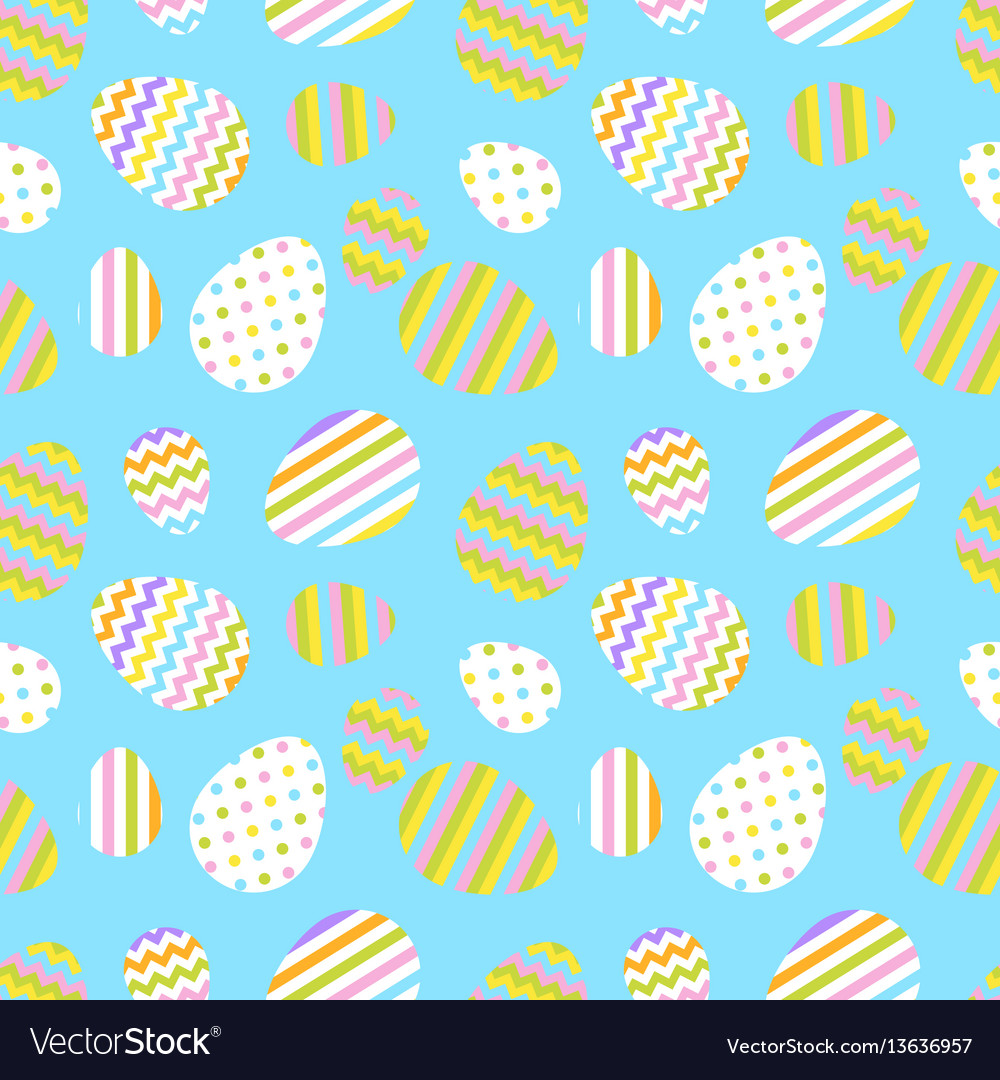 Pastel seamless pattern with easter eggs.