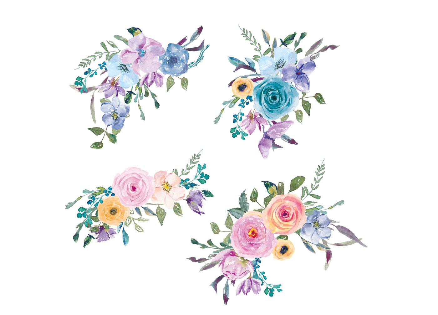Pastel Flower Clipart.