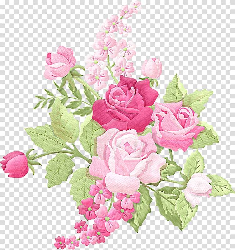 Pink roses illustration, Flower bouquet Rose , pastel.