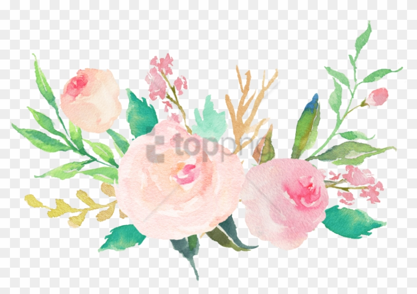 Free Png Water Color Flowers Pastel Png Image With.
