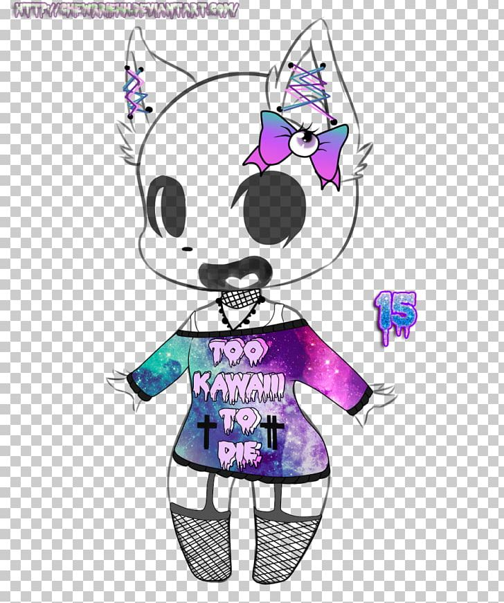 Drawing Pastel Goth Subculture Sketch Illustration PNG.