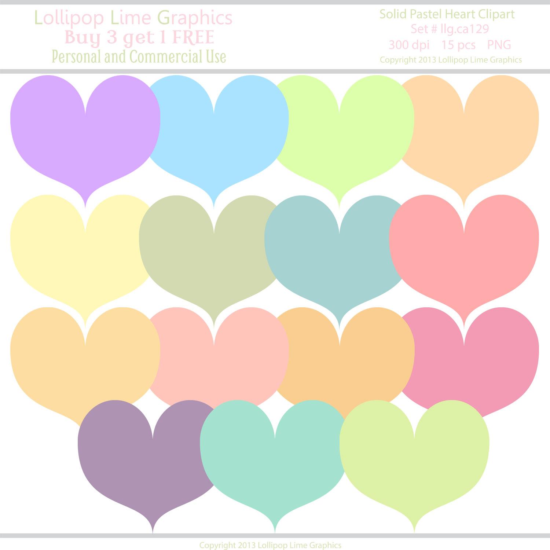 Lollipop Lime Graphics: Pastel Hearts.