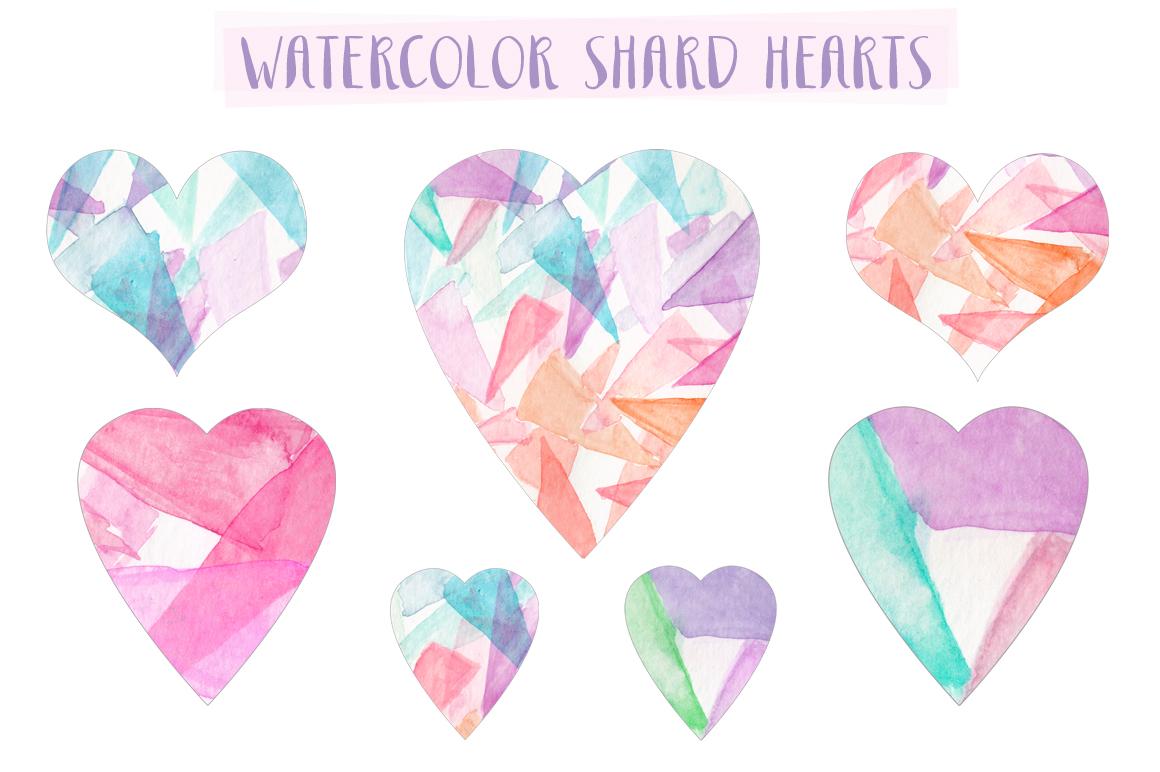 Watercolor Heart Clip Art.